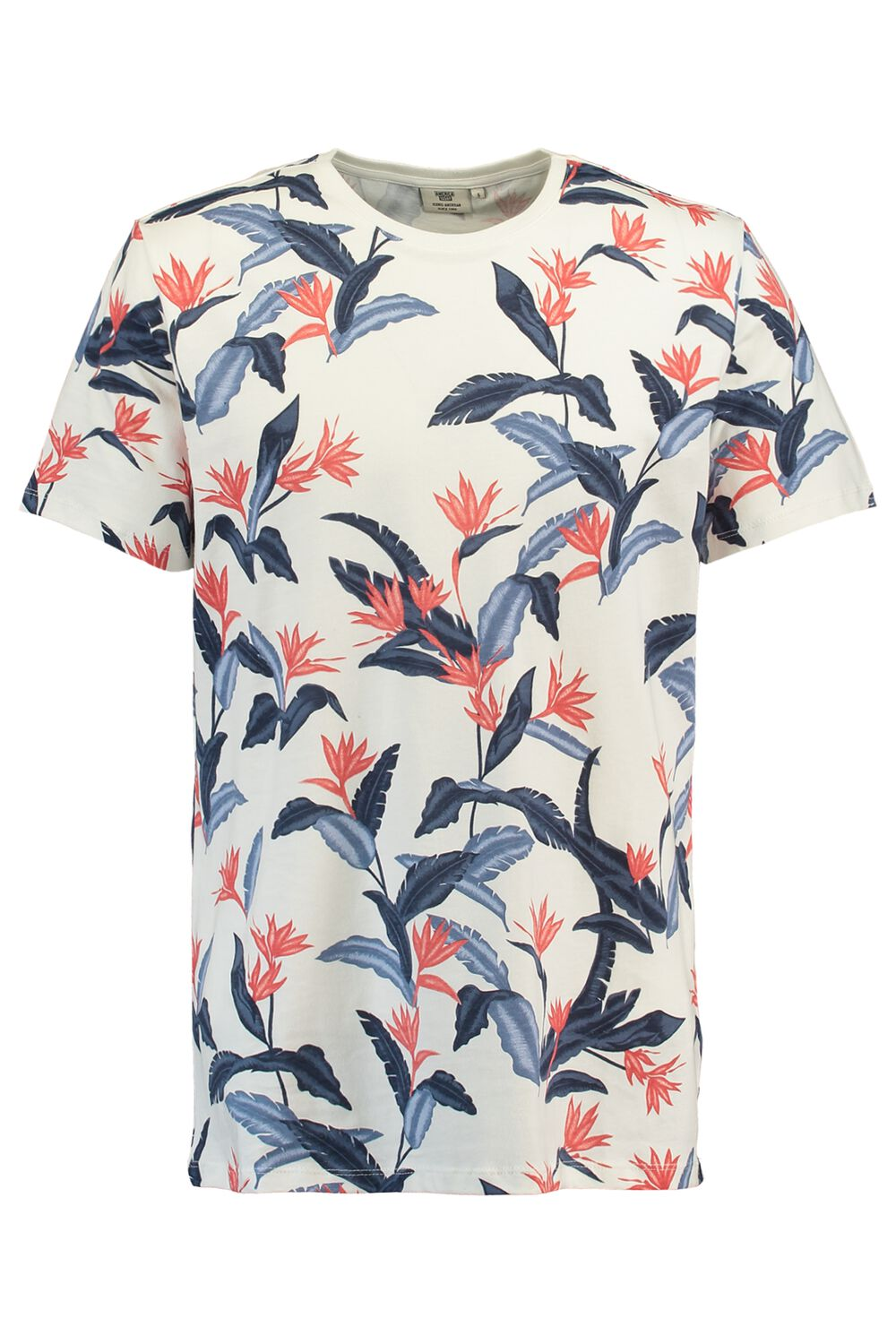 America Today Heren T-shirt Edwald Flower Wit