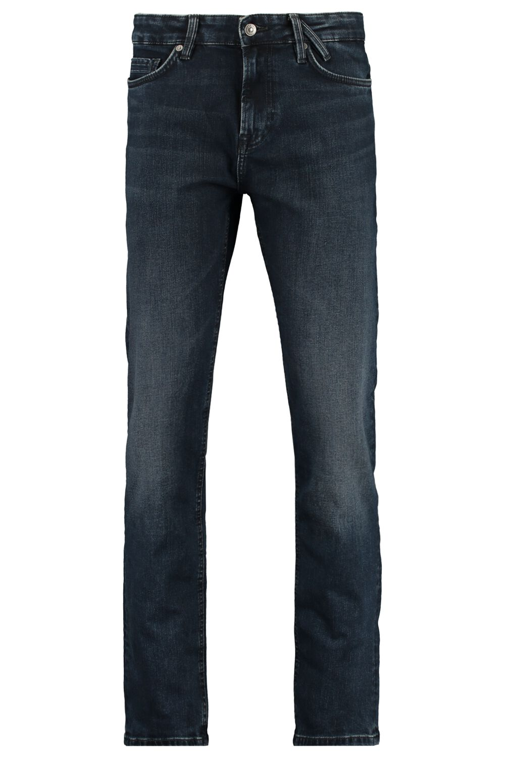 Straight Fit Jeans Stretch Blauw