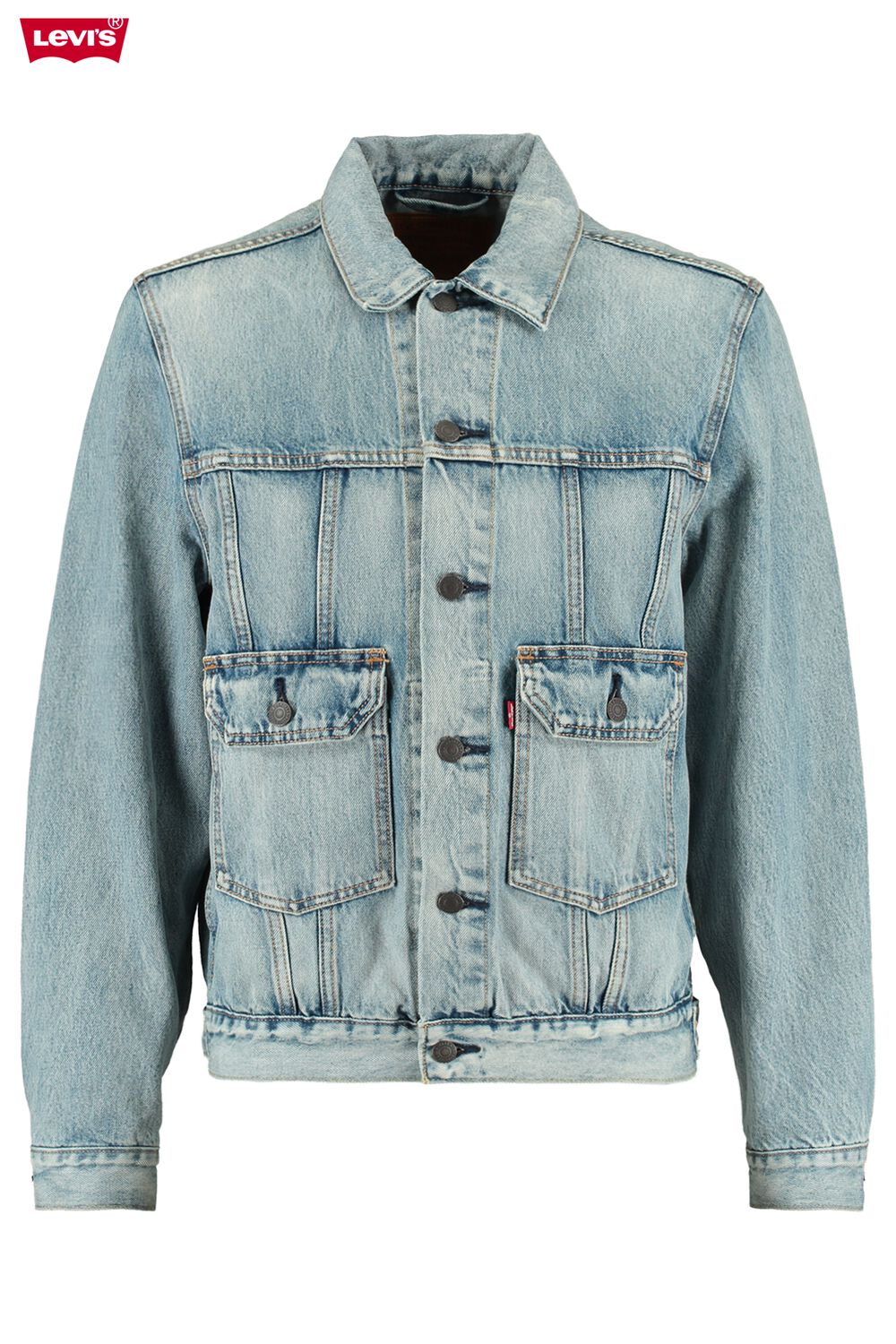 Levi's Heren Trucker Jacket Iconic Trucker Blauw