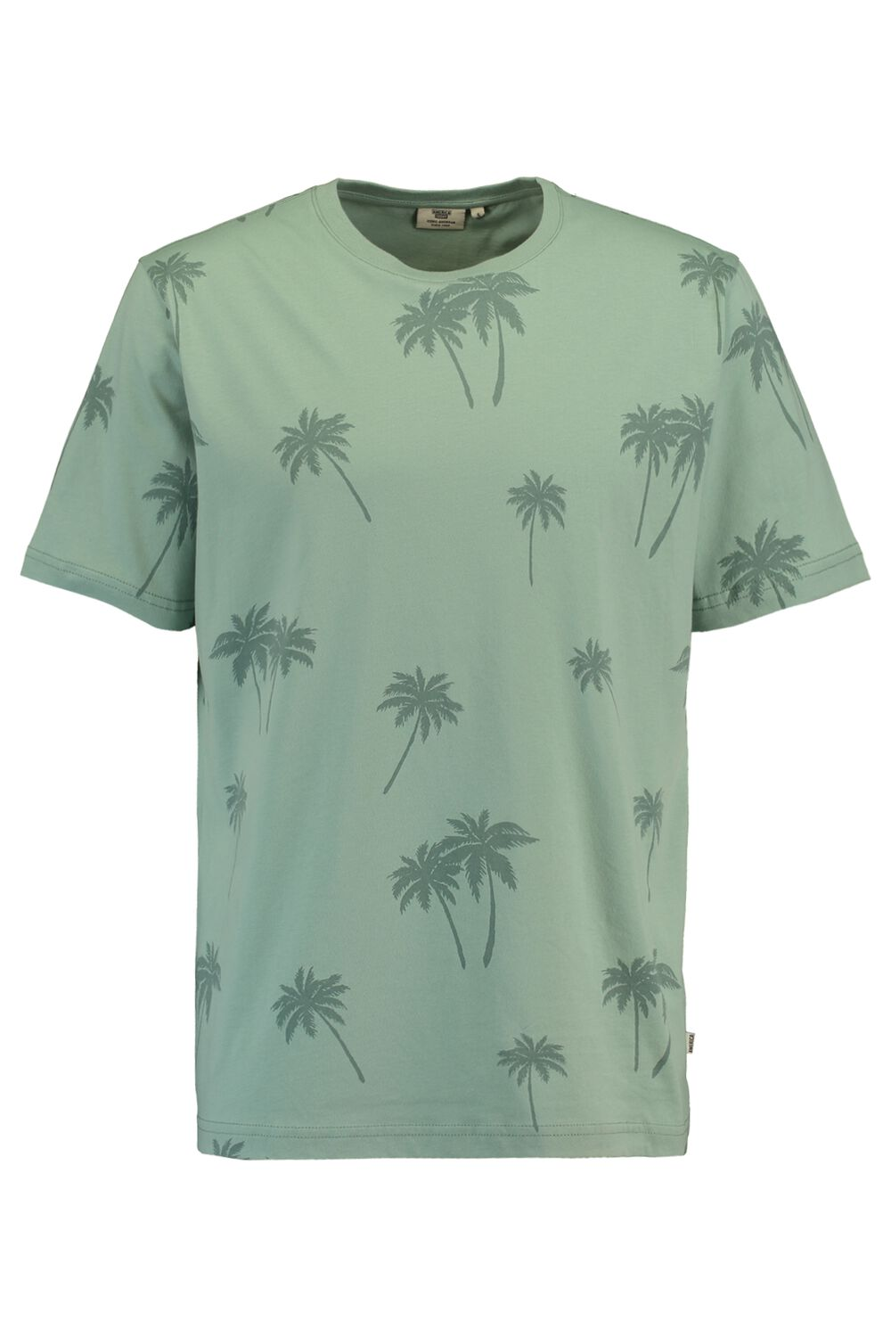 America Today Heren T-shirt Emmanuel Palm Groen