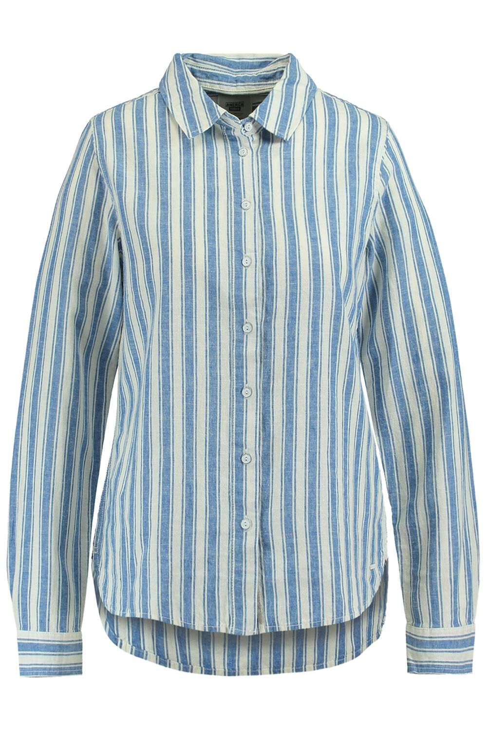 America Today Dames Blouse Britney Blauw