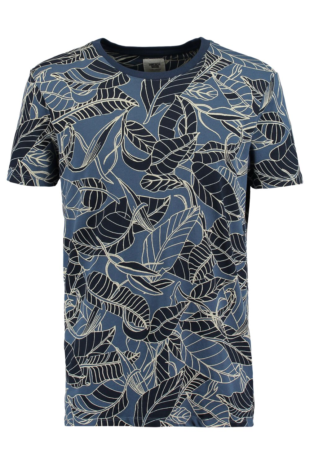 America Today Heren T-shirt Epic Leaves Blauw